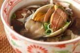 貝ときのこのスープ