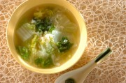 白菜とカニの中華スープ