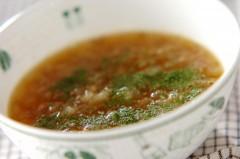 玉ネギとチアシードスープ