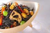 芽ヒジキと大豆の煮物