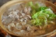 豚しゃぶと白菜の煮込み おろしゴマダレ