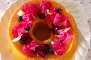 ふわふわシフォンのデコレーションケーキ
