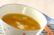 豆腐入りコーンスープ