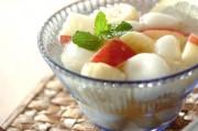 白玉とフルーツのデザート