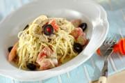 トマトとツナの冷製バジルパスタ