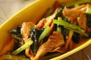 小松菜とマイタケの炒め物