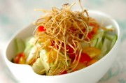 揚げゴボウのせサラダ