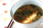 ナメコとアオサのみそ汁