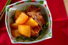 大根と骨付き豚バラ肉の塩麹煮