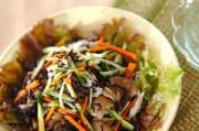 豚肉と芽ヒジキのサラダ