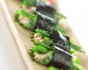 リコッタ豆腐の海苔巻き