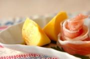 柿と生ハムの前菜