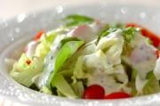 グリーンサラダのヨーグルトドレッシング