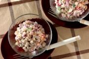ヨーグルト大豆と赤カブのサラダ