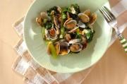 アサリと小松菜のペペロンチーノ