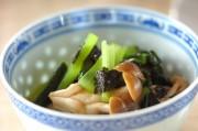 小松菜とシメジののり和え