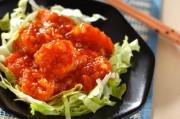 トマト入りエビのチリソース炒め