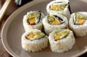 アボカドとエビの裏巻き寿司