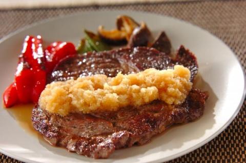 牛ステーキおろしポン酢添え