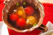 ウズラの卵とトマトのコンソメスープ