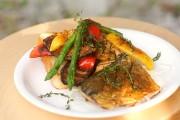 グリル野菜とオープンサンド