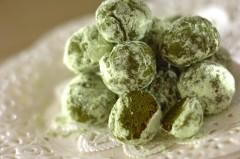 抹茶のポルボローネ