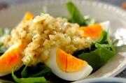 ホウレン草と卵のサラダ