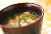 秋ミョウガの卵汁