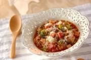 厚切りハムのトマト雑炊