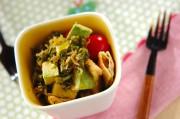 アボカドのジャコネギサラダ