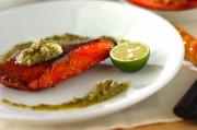 鮭のグリル ケイパーソース