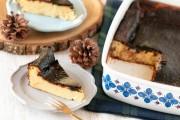 ホーローで作るバスク風チーズケーキ