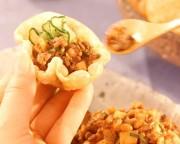 パリ皮付きひき肉納豆