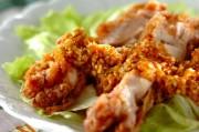 揚げ鶏のピリ辛ソース