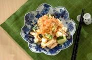 鶏ささ身のワサビ風味サラダ