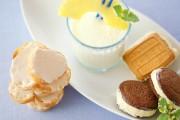フレッシュジュース+アイスクッキー&ラスク