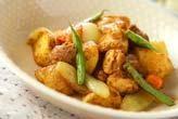 鶏とジャガのカレー味