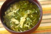 ツルムラサキのスープ
