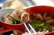 豚バラ肉とセリの常夜鍋