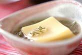 卵豆腐ジュンサイ添え