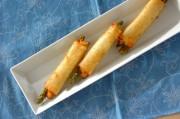 アスパラとチーズの春巻き