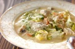 白菜と鶏もも肉のクリーム煮