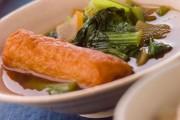 青菜とごぼ天の煮物