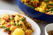 鶏と豆のパエリア