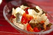 くずし豆腐とプチトマトのシンプルサラダ