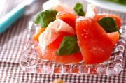 冷やしトマトと生ハムのサラダ