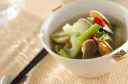 セロリとアサリのスープ
