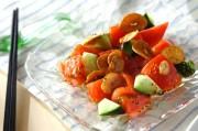 トマトのガーリックサラダ