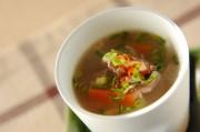 牛肉入りスープ