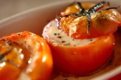 チーズイン焼きトマト